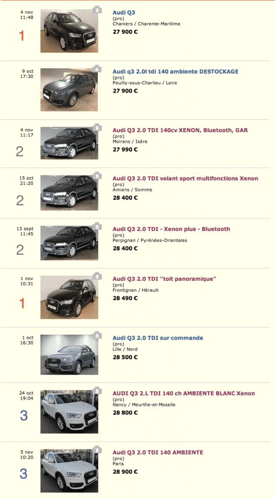 annonces Audi Q5