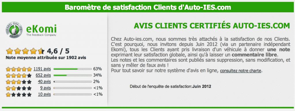 avis clients Auto-IES