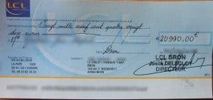 dépôt chèque de banque