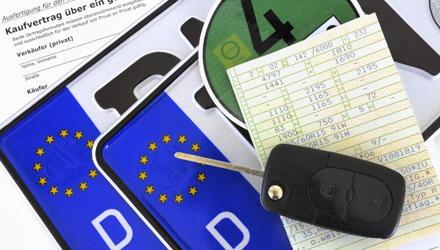 Carte grise et documents Allemand pour immatriculation