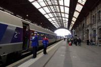 Reception des clients à la gare de Strasbourg