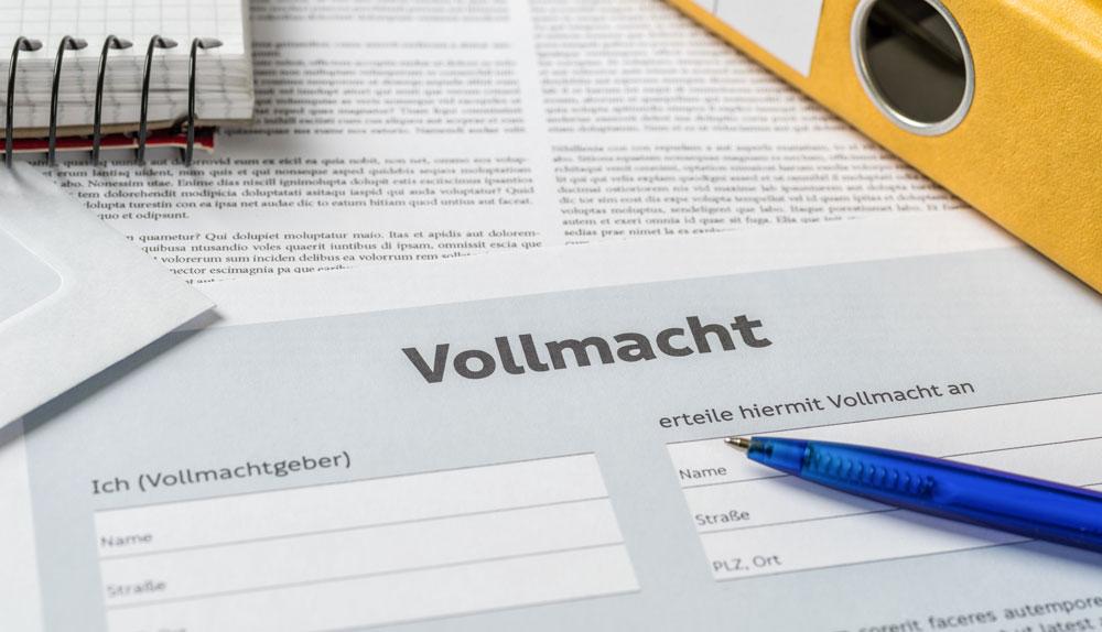 Une Vollmacht est obligatoire pour importer une occasion d'Allemagne. Certains mentions sont obligatoire sur la vollmacht