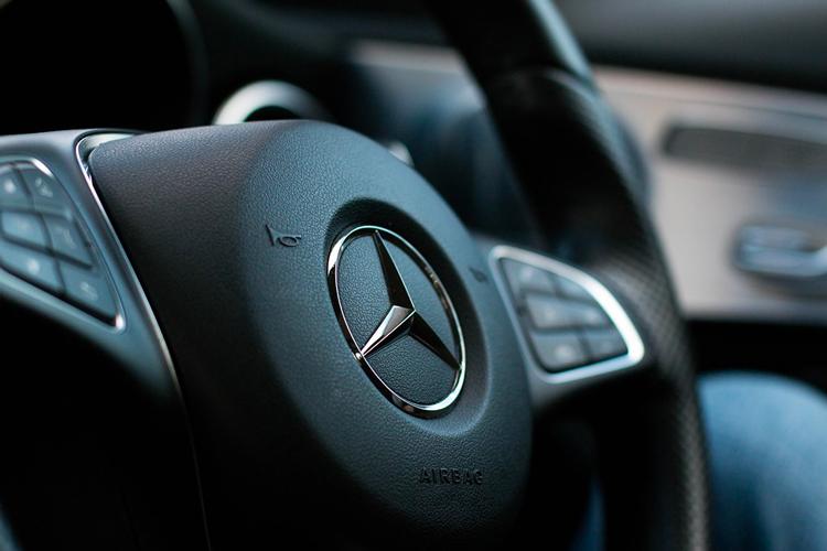 Intérieur d'une Mercedes